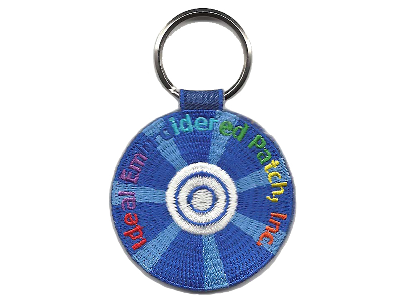 Ideal Embroidered Patch Keyring